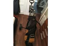Got a golf bag with clubs also there is a few golf balls & Ts .. ok condition , good for 1st timers