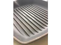 Le Creuset frying griddle pan grey. HG3