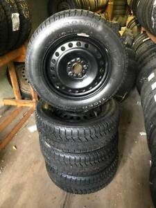 215 60R 16 UNIROYAL TIGER PAW WINTER SNOW TIRES 5X108 BOLT FORD FOCUS FUSION AND MORE 8/32NDS