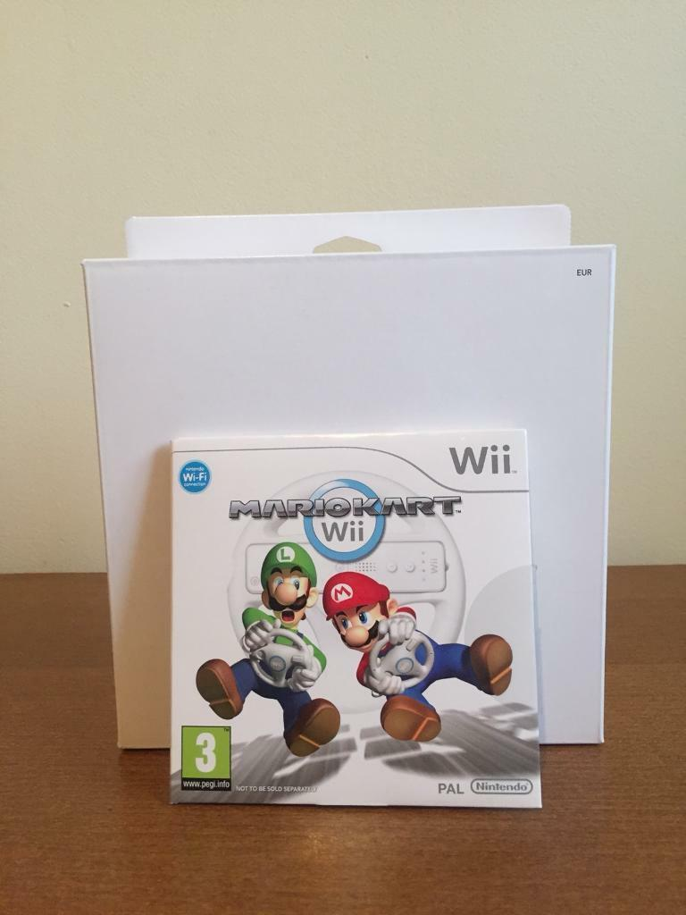MARIO KART WII GAME WITH WHEEL INCLUDED