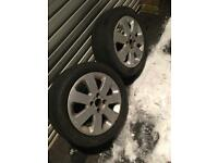 2 corsa wheels 4 stud alloys rims tyres