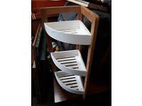 Bathroom corner storage rack shelf unit