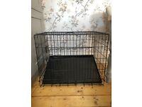 Dog crate medium black