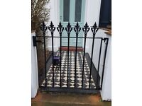 Metal gates and security grills, railings