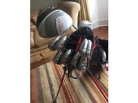 Taylormade burner plus irons with (very rare) spider balero putter and cobra driver