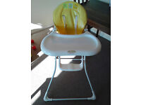 Child High Chair - good condition - white/yellow