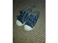 Boys size 8 denim canvas shoes