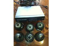 H.264 digital video recorder with 6 camera (CCTV)