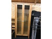 Oak glass cabinet