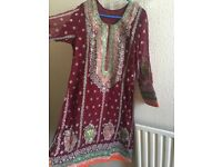 Pakistani Shafoon Shalwar Kamiz (Dress)