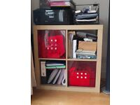 4 units Ikea bookcase with 2 inserts