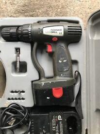 Cordless 18v Power Hammer Drill