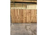 Various sizes vertical board fence panels