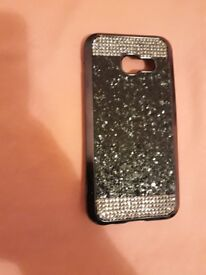 Black glittery diamonte phone cover. New. Samsung A3 2017. Only £3!
