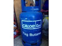7 KG BUTANE GAS BOTTLE - half full