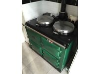 Aga Delux Range Cooker - Two oven/two hob. Gas fired. Late 1960s. Green