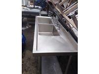 Double sink single sink fryer griddle grill