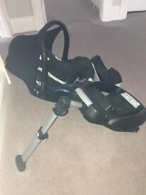 Car seat and base with baby insert