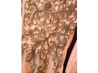 Peach Long embellished dress size 8