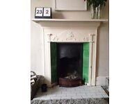Original Victorian cast iron tiled fireplace - Amazing price!