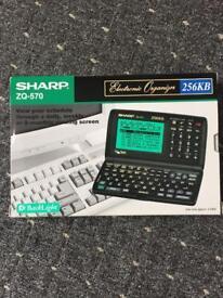 Sharp electronic organiser