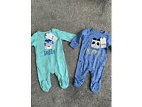 Next baby boy sleepsuits brand new