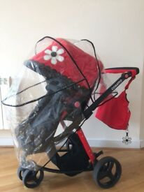 Cosatto pram with bag, rain cover and footmuff