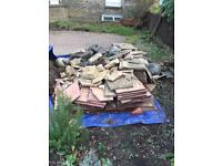 Free paving slabs, stones and rubble