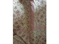 SHABBY CHIC LOVELY COTTON BED THROW.