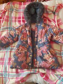 Monsoon girls coat size 3 - 4