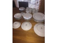 Royal Worcester Contemporary Classic Platinum Dinner Service