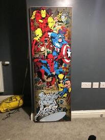 Tall marvel superhero canvas very cheap