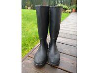 Black Dunlop Junior Wellington Boots Size 3