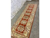 Runner rug - good condition . Thick piled Rug . Size -265cm x 85cm