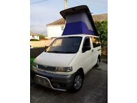 Mazda Bongo Van, Auto Free Top Roof with removable kitchen Pod. 5 or 8 seats with original belts