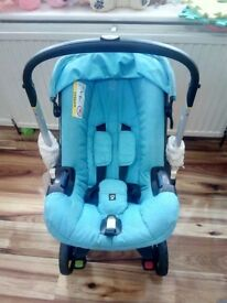 PRAM Doona Car Seat Pram- Only Car Seat on Wheels