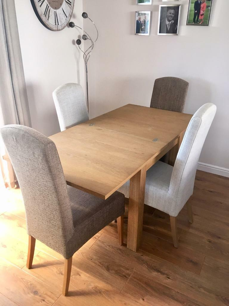 Groovy Solid Oak Dining Room Table 4 Chairs In Plymouth Devon Gumtree Interior Design Ideas Gresisoteloinfo