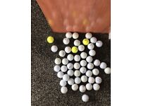 Bag of 50 golf balls all in good condition
