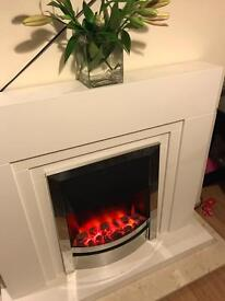 White Art Deco style fireplace £75 ONO