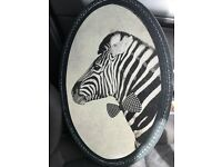 Graham and Green Quirky Zebra Canvas