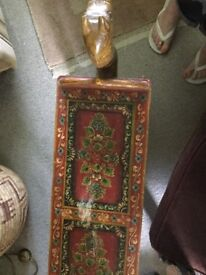 Vintage Indian hand painted side table bench