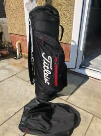 Titleist club 14 trolley/Cart golf bag including rain hood