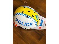 Brand new Kiddimoto police helmet ( medium)