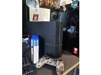 PS4 500GB in good condition. Free stuff. 3 games
