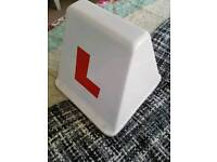 Learner driver magnetic roof sign