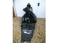 Slazenger electric golf trolley. Full size with carry bag.