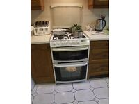 Cannon Henley Dual Fuel Cooker; White. 4 ring Gas hob. electric grill top oven fan assisted main