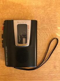 Sony Voice Recorder (uses full sized cassette tapes)