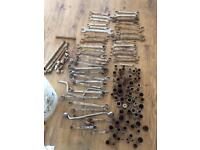 Tools spanner's and sockets most 3/8 job lot