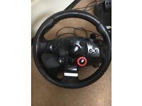 Power steering Logitech steering wheel and pedal